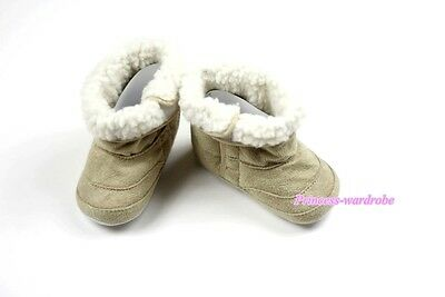 Khaki Newborn Baby Toddler Infant Crib Girl Shoes Cute Snow Cotton Boots 6-24M
