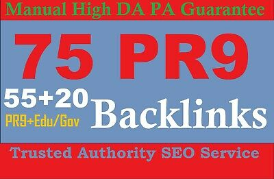 40 PR9 + 20 EDU/GOV Safe SEO High Pr Backlinks 2019 GOOGLE SEO