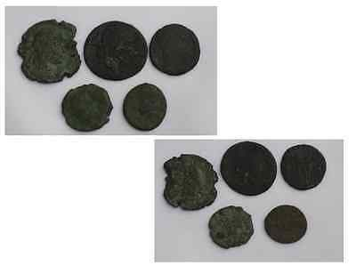 Authentic Collection of 5 Roman Coins Circ 3rd/4th Century Roman Empire.