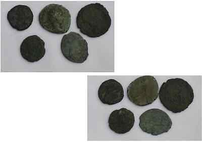 Nice Original  Collection of 5 Roman Coins Circ 3rd/4th Century Roman Empire.