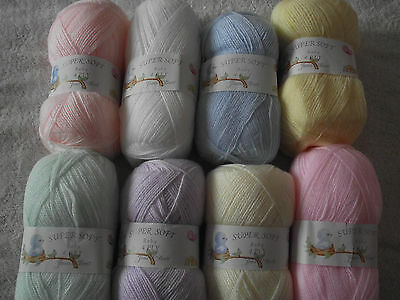 100g Super Soft Baby 4Ply Wool - James C Brett - Choice of Colours