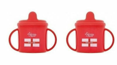 Tommee Tippee 2 Handled Fixed Spout ENGLAND Cup x 2