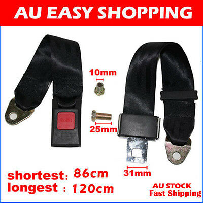 120CM UNIVERSAL TRAVEL ADJUSTABLE 2/TWO POINT CAR TRUCK SEAT LAP BELT Safety