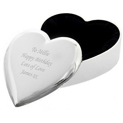 Personalised Heart Trinket Box - Great Birthday Gift - Free Laser Engraving
