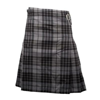 "Gents' Quality 5-Yard Party Kilt - Granite Grey Tartan - Sizes 28""-48""!"