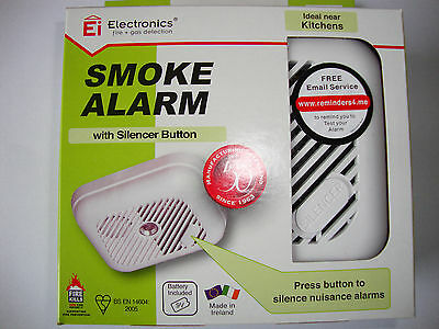 SMOKE ALARM  Ei100SWX - WITH HUSH BUTTON -  NEW- BATTERY INCLUDED.