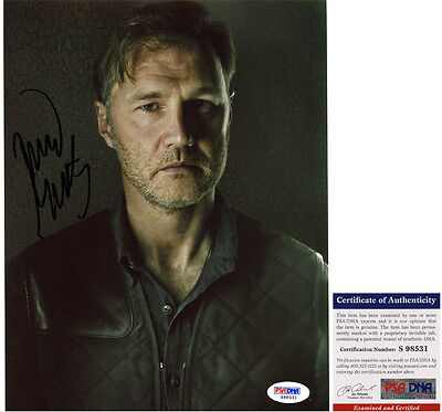 David Morrissey Signed 8x10 The Walking Dead The Governor Dr. Who PSA/DNA