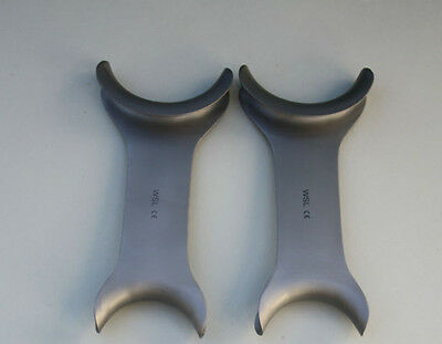 Set of 2 Cheek Retractor Dental Orthodontic Surgical Instruments  CE