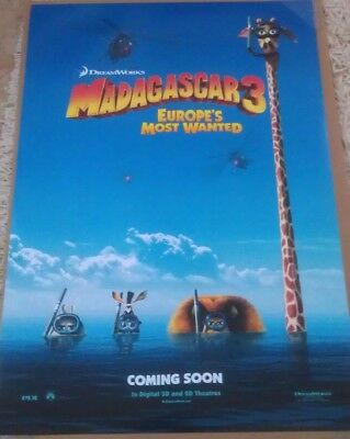 MADAGASCAR 3 MOVIE POSTER 2 Sided ORIGINAL Advance 27x40 BEN STILLER