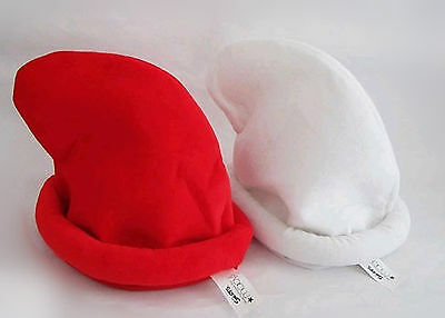 3D Movie The Smurfs Smurfette& Papa Hats Character Cosplay Red & White 2pcs
