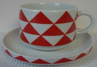 BLOCK - STACK PRISM-RED Cup & Saucer Set (s)