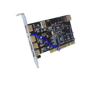PCI 3x USB2.0+3x IEEE 1394 Video Capture Card USB2.0+1394A Expansion Combo Card