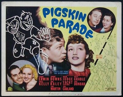 Pigskin Parade Patsy Kelly Betty Grable Judy Garland 1936 Title Card