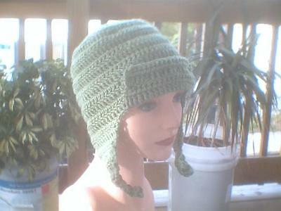 Crochet hat South Park cosplay Kyle  green with flaps