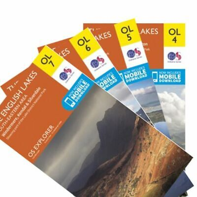 Os Explorer 4 Map Pack Of The Lake District Ol4, Ol5, Ol6, Ol7 - Ordnance Survey