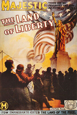 Poster:movie Repro:  Land Of Liberty (1939) - Free Shipping ! #ae6329 Lw4 P