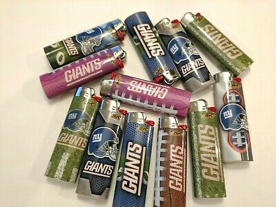 Bic Full Size Cigarette Lighters, NFL Edition - New York Giants, ( Set of 4 )