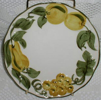Stangl Pottery Sculptured Fruit Hand Painted Salad Dessert Plate Plates 8""