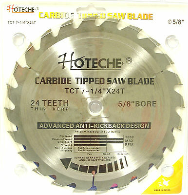 """Lot of (3) Carbide Tipped Saw Blade 7-1/4"""" x 24T"""