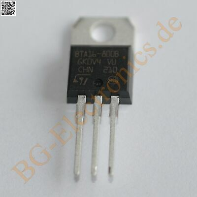 5 x BTA16-800B TRIAC 16A 800V  BTA16800B STM TO-220 5pcs