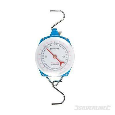 SILVERLINE MEASURING WEIGHING HANGING SCALES HEAVY DUTY 200kg FREE DEL (251087)