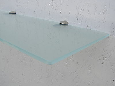 Glasregal satiniert 6mm, diverse Formate, Glasregale Wandregal Badregal Ablage