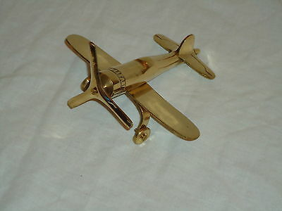 Brass Spitfire Plane Model very nice for display -Gift