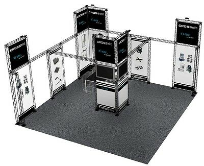 20X20 Trade Show Booth Display Custom Composite Truss Crosswire 20 X 20 / 20X30