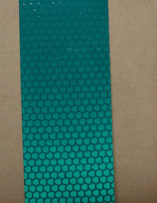 """Reflective GREEN High Intensity Tape 12 pieces 2"""" x 5"""""""