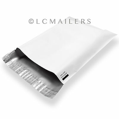 1000 9x12 Poly Mailers Envelopes Shipping Bags White Plastic Self Sealing Bag