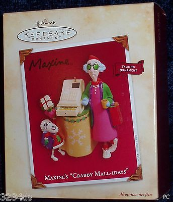 "NEW 2004 Hallmark MAXINE'S ""Crabby Mall-idays"" Floyd MAGIC Ornament with Sound"