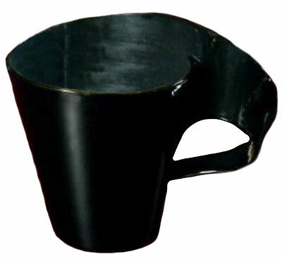 16 Black Wavetrends Extra Heavy Duty Coffee Mugs 8 Oz