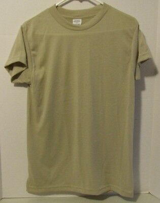 Military US Marines Army T-Shirt GI Moisture Wicking SAND Small  NEW Under Shirt