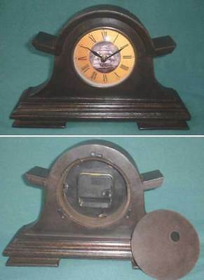 U57 - Small mantel clock, Roman figures, antique look / reproduction
