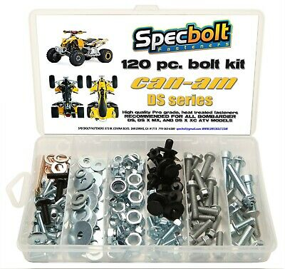 120pc Bolt kit CAN-AM DS 450 ATV DS450 MX XC  X fenders body engine Bombardier