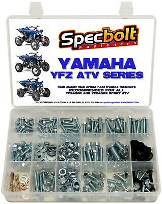 250pc Bolt Kit Yamaha YFZ450 YFZ 450 ATV plastic body fenders engine frame pipe