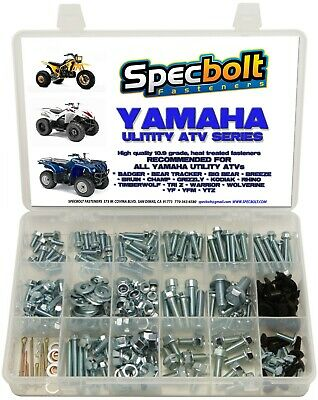 250pc Bolt kit Yamaha util ATV Wolverine Warrior Grizzly Rhino Kodiak Timberwolf