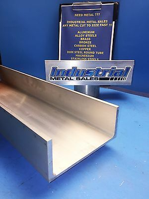 "6061 T6 Aluminum Association Channel 6"" x .210"" x 3-1/4"" x 12""-Long-->6"" Channel"