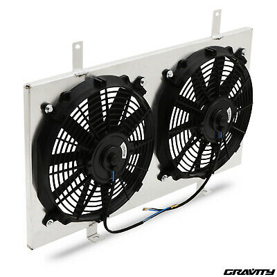 Alloy Radiator Rad Fan Shroud Kit For Nissan 200Sx S14 S14A S15 Sr20Det 93-02