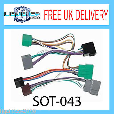 SOT-043 VOLVO V70 2000 to 2007 AMPLIFIED ISO PARROT ADAPTOR WIRING LOOM LEAD