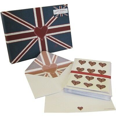 Jan Constantine Union Jack Writing Set 30 Sheets Paper 20 Envelopes Seals (NEW)