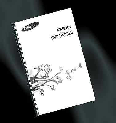 ~ PRINTED ~ Samsung GALAXY S2 / SII Mobile Phone User Guide, Instruction Manual