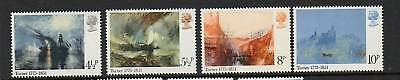 GB 1975 J.M.W. Turner Bicentenary MNH mint set stamps