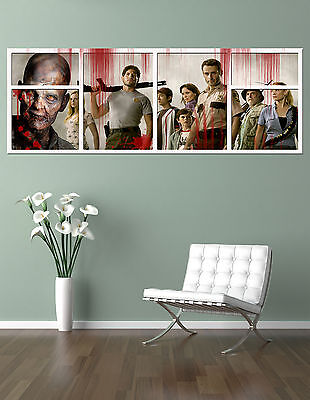 the WALKING DEAD  CAST !!!    GIANT WINDOW VIEW   PRINTED POSTER