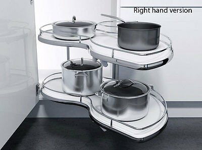 Slide out corner pull out shelving unit railing for for Kitchen cabinets 1000mm