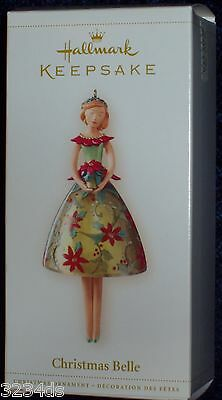 NEW 2006 Hallmark CHRISTMAS BELLE in Poinsettia Dress Ornament NEW Legs Dangle