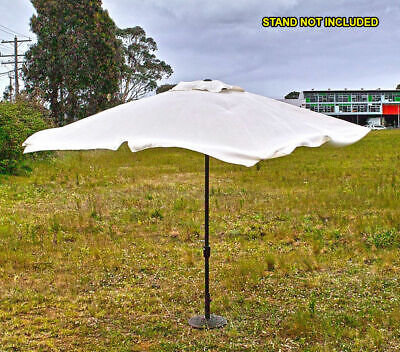 Market Garden Umbrella, 3m Square, Aluminium Pole, 8 ribs, Zinc Plated Windup