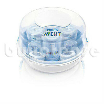 Philips AVENT Microwave Steam Steriliser SCF281/02 Compact Lightweight Fast NEW