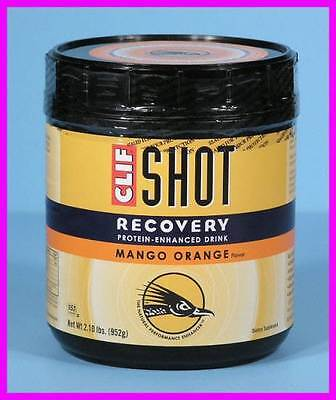 * 2.1 lbs Mango Orange Clif Shot Recovery Protein-Enhanced Hydration Drink Mix *