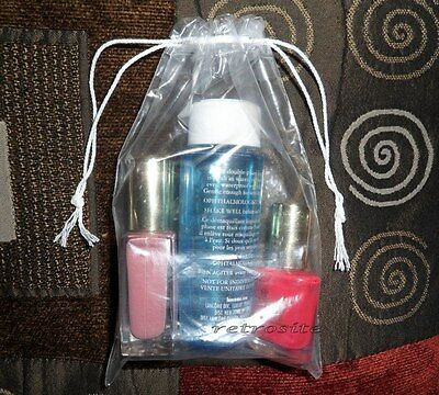 "50 Qty 4"" x 6"" Double Drawstring Clear Poly Plastic Bags 2 MIL *BEST QUALITY*"